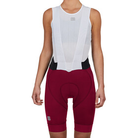 Sportful Bodyfit Pro Salopette Corta Donna, red wine